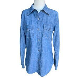 Gap Denim Blue Jean Shirt